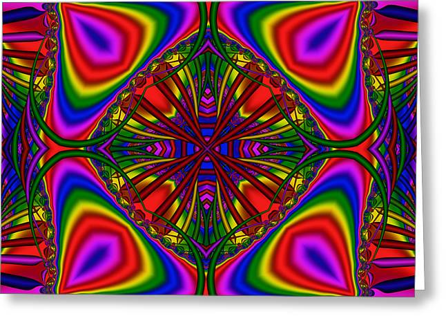 Abstract 605 Greeting Card by Rolf Bertram