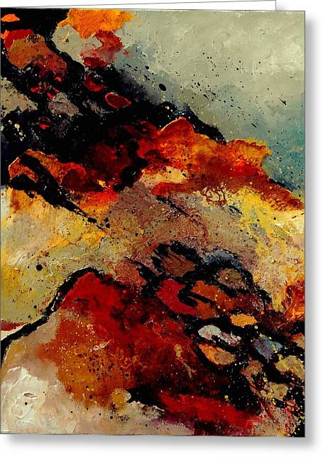 Abstract 780707 Greeting Card by Pol Ledent