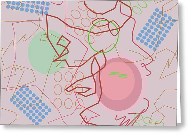 Abstract 8 Pink Greeting Card