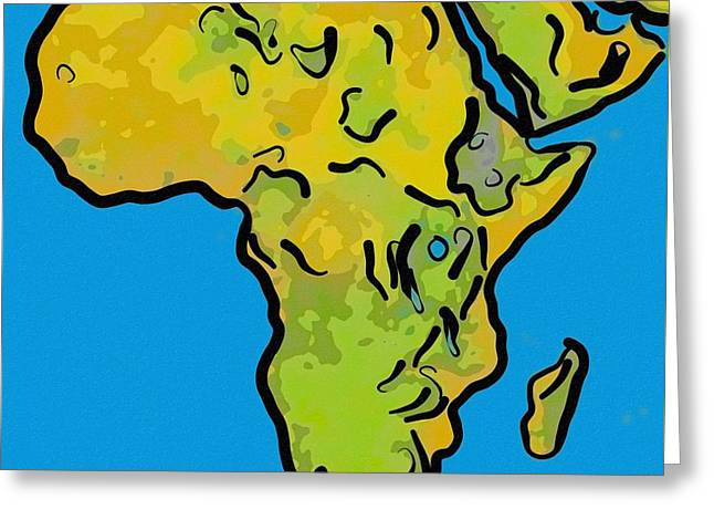 Abstract Africa Greeting Card by Celestial Images