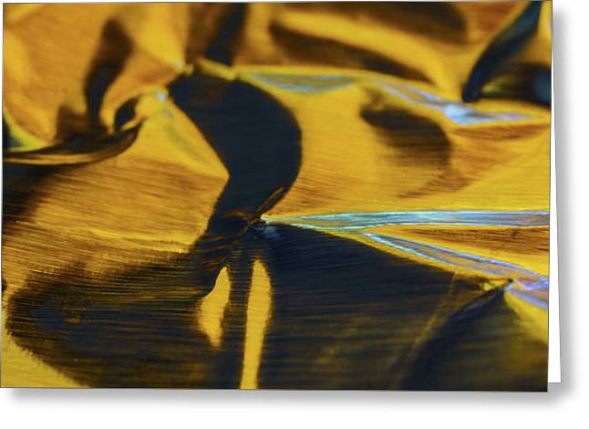 Abstract Aluminum  Greeting Card by Med Studio