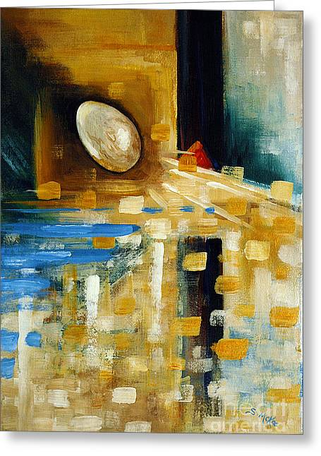 Abstract And A Pelican Egg Greeting Card