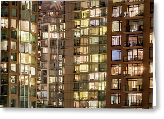 Abstract Apartment Buildings Greeting Card