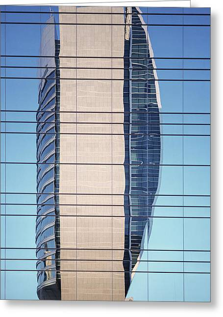 Abstract Architecture - National Bank Of Dubai Greeting Card