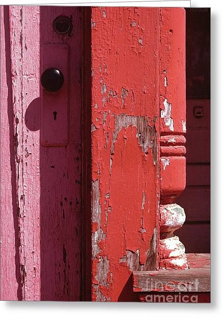 abstract architecture - Red Door Greeting Card