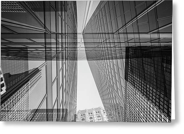Abstract Architecture - Toronto Financial District Greeting Card