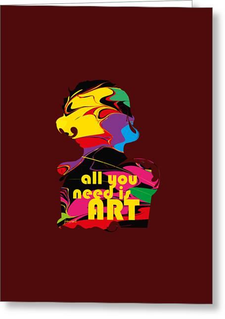 Yes Abstract Art M51,   Art Shirt Greeting Card