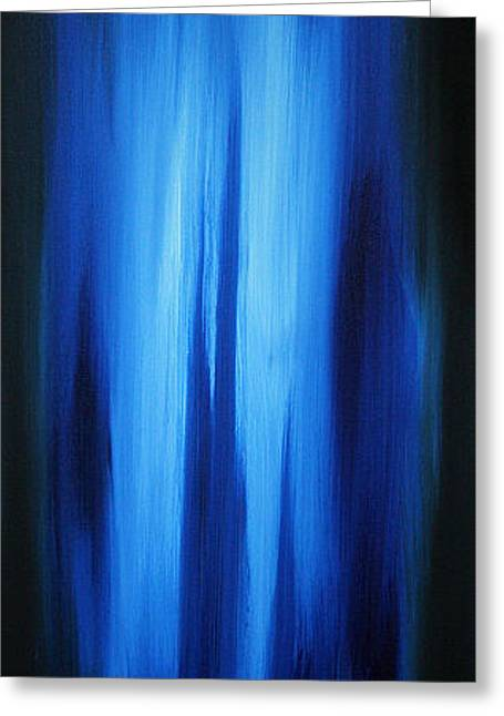 Abstract Art Colorful Original Painting Winter Passion - Blue By Madart Greeting Card