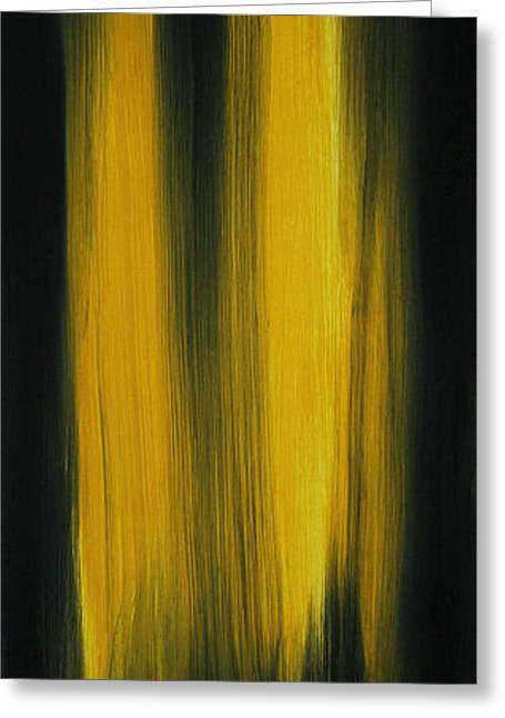 Abstract Art Colorful Original Painting Winter Passion - Yellow By Madart Greeting Card by Megan Duncanson