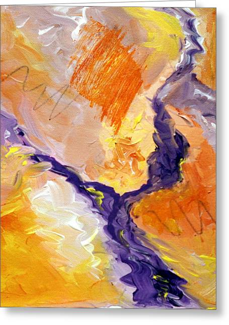 Abstract Art - Fire River Greeting Card