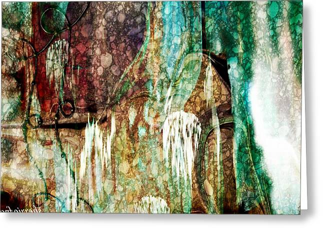 Abstract Art  From Water To Wine Sherri Of Palm Springs Greeting Card by Sherri's Of Palm Springs