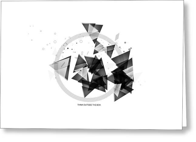 Abstract Art Geometric Shapes No 2 Greeting Card