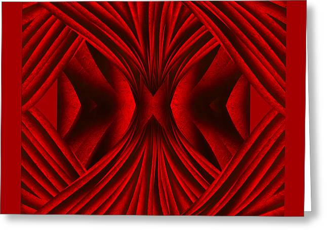 Abstract Art - Hot Secrets By Rgiada Greeting Card