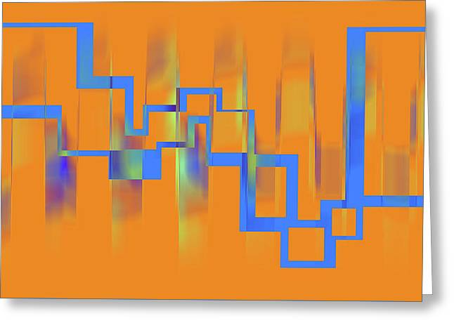 Abstract Art Orange Greeting Card by Ralph Klein