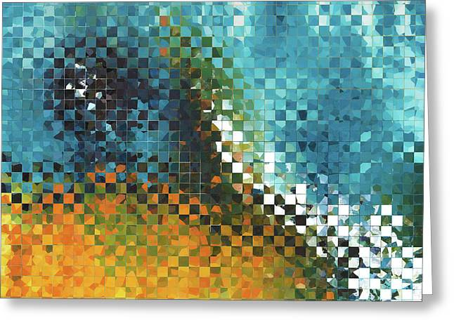 Abstract Art - Pieces 9 - Sharon Cummings Greeting Card