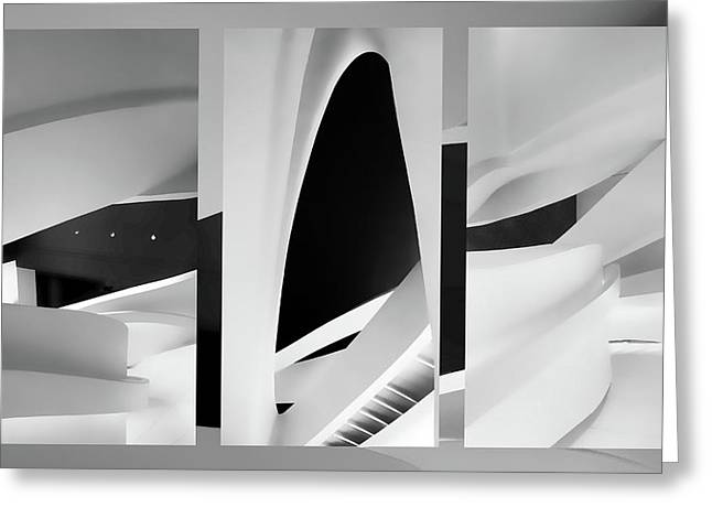 Abstract Ascension Triptych Greeting Card