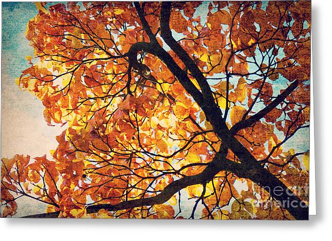 Abstract Autumn Impression Greeting Card
