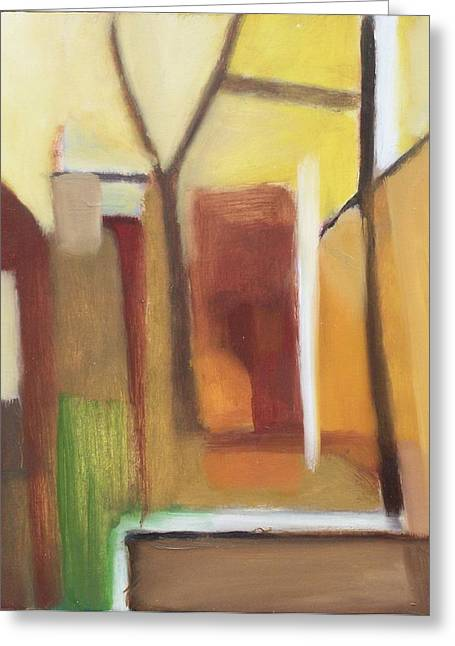 Abstract Backyard 2008 Greeting Card by Ron Erickson