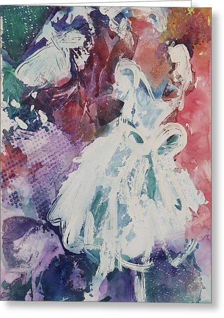 Abstract-ballerina Greeting Card by Sandra Gittleson