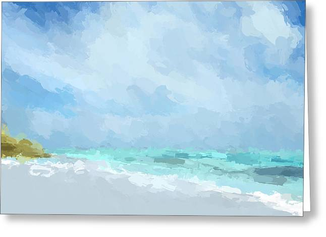Abstract Beach Afternoon  Greeting Card
