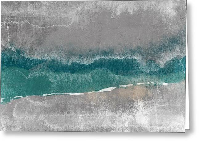 Abstract Beach Landscape- Art By Linda Woods Greeting Card
