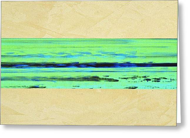 Abstract Beach Landscape  Greeting Card