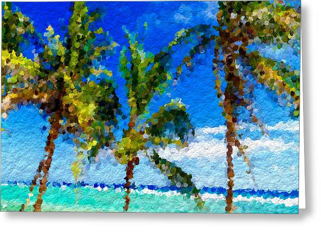 Abstract Beach Palmettos Greeting Card