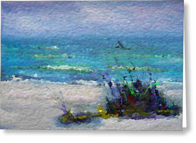 Abstract Beach Pastel Summer Greeting Card by Anthony Fishburne