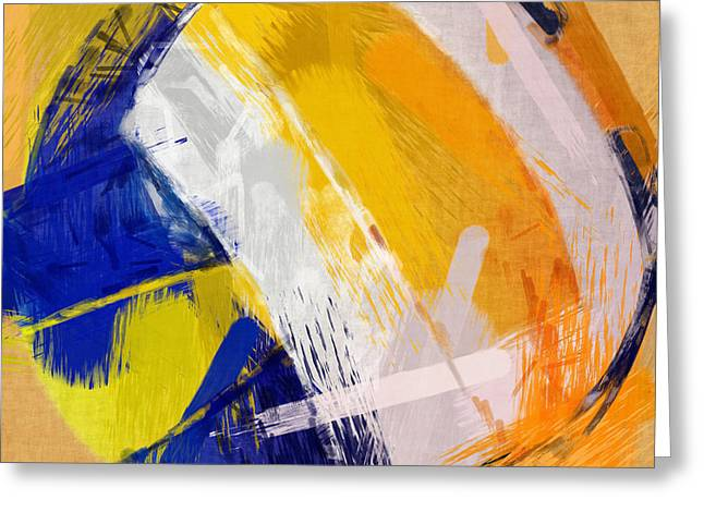 Abstract Beach Volleyball Greeting Card