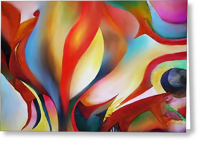Abstract Beings Greeting Card by Peter Shor
