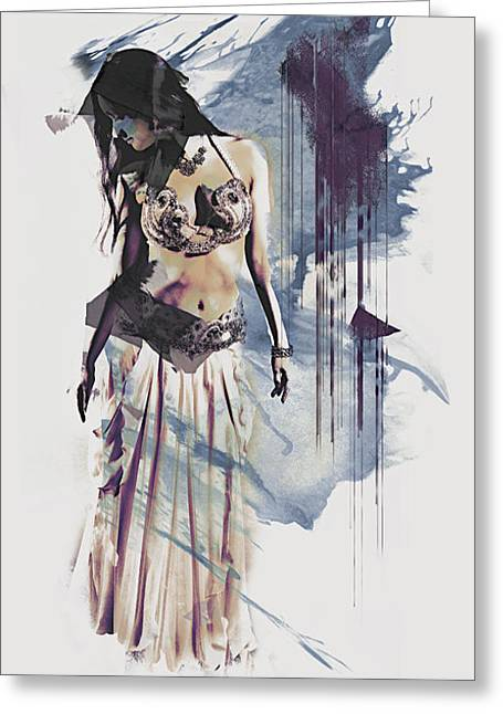 Abstract Bellydancer Greeting Card