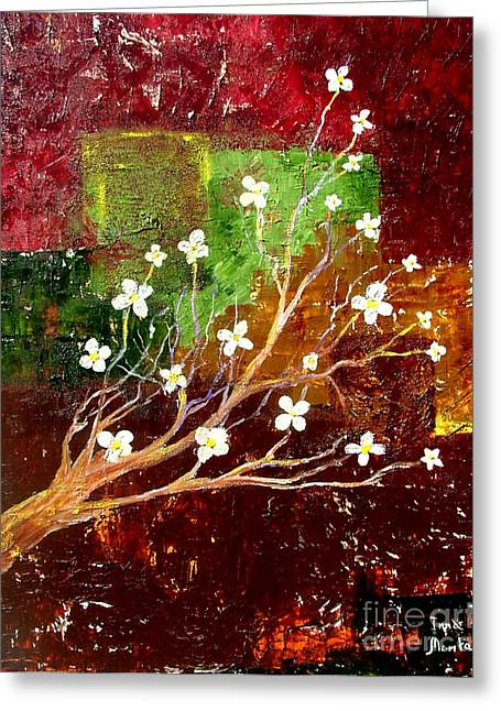 Abstract Blossom Greeting Card by Inna Montano
