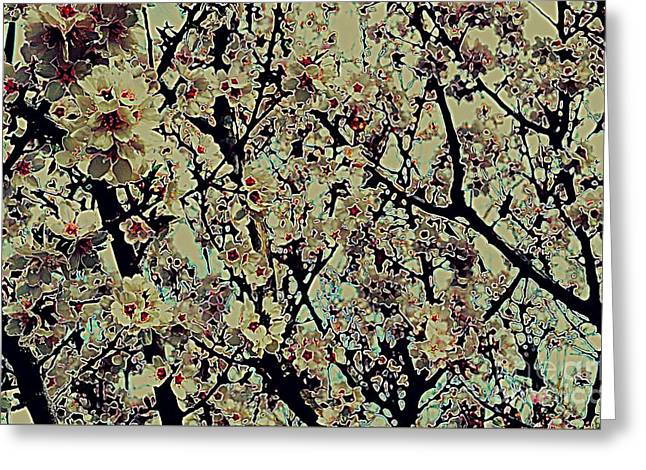 Abstract Blossoms Greeting Card