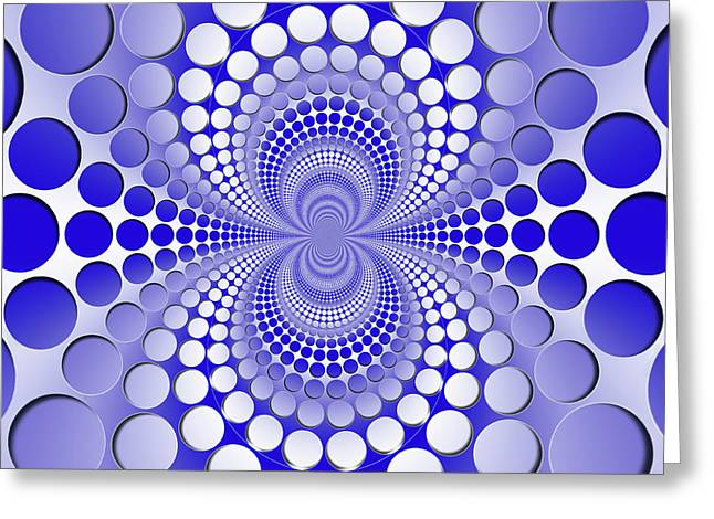 Abstract Blue And White Pattern Greeting Card