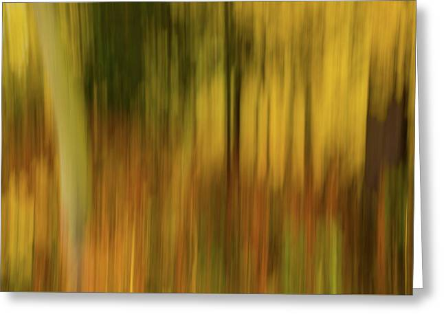 Abstract Blur Number 3 Greeting Card