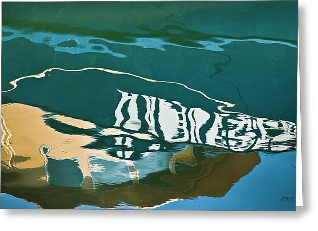Abstract Boat Reflection Greeting Card
