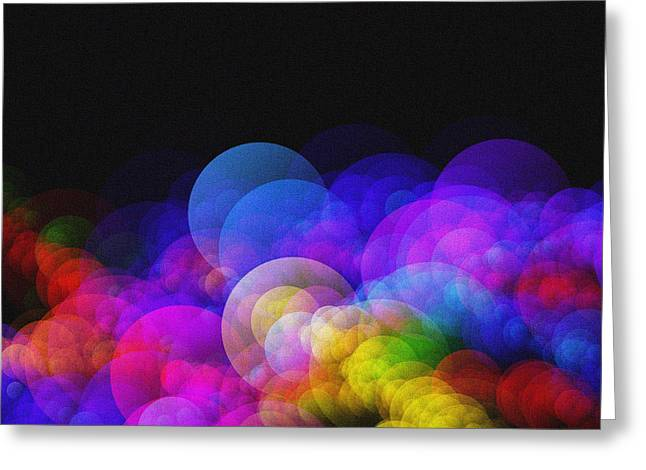 Abstract Bokeh - Rainbow Lights Greeting Card by Celestial Images