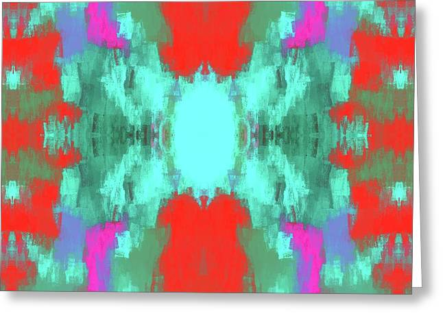 Abstract Brightly Colored Shapes Greeting Card by Brandi Fitzgerald