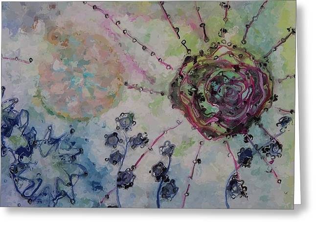Abstract Burst Greeting Card by Judy Bernier