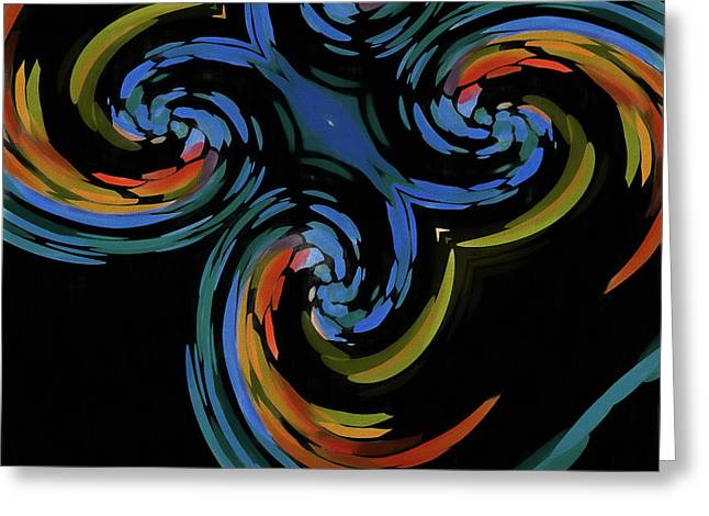 Abstract Butterfly Effect Greeting Card by Dan Sproul