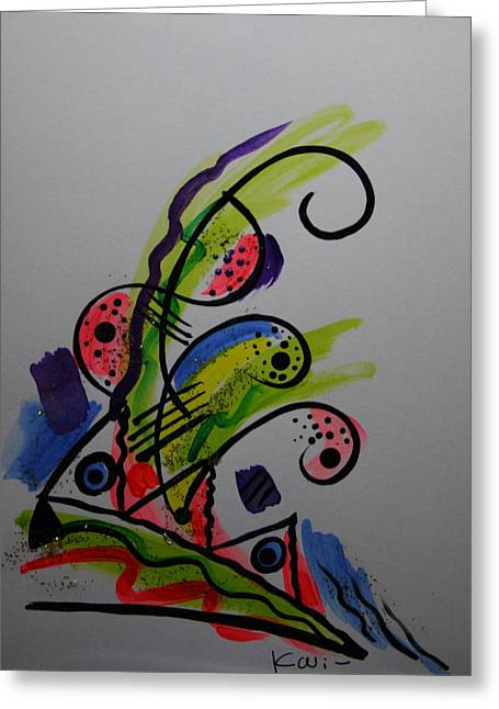 Abstract Card 1 Greeting Card by Karin Eisermann