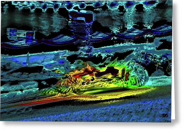 Abstract Carriage Ride Greeting Card
