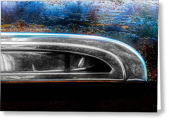 Abstract Cars 1941 Special Deluxe Chrome Greeting Card