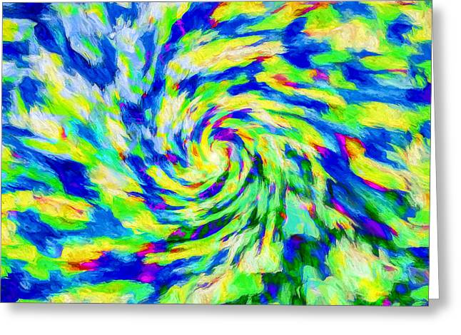 Abstract - Category 5 Greeting Card