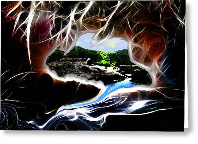 Abstract-cavern Greeting Card by Patricia Motley
