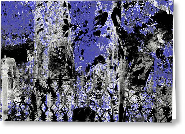 Abstract Cemetery Greeting Card by Dora Hembree