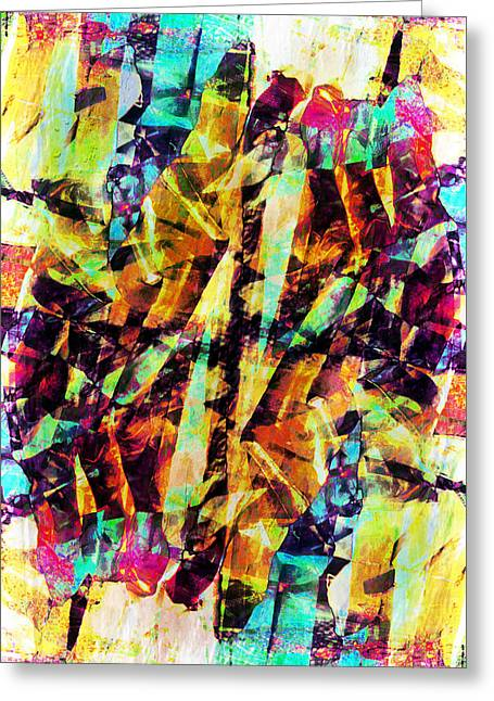 Abstract Chaos Greeting Card