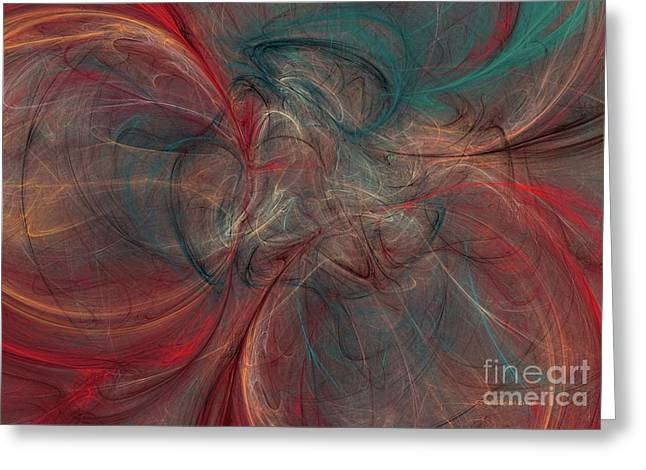 Abstract Chaotica 10 Greeting Card