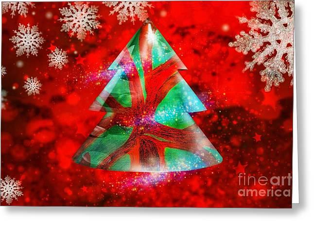 Abstract Christmas Bright Greeting Card