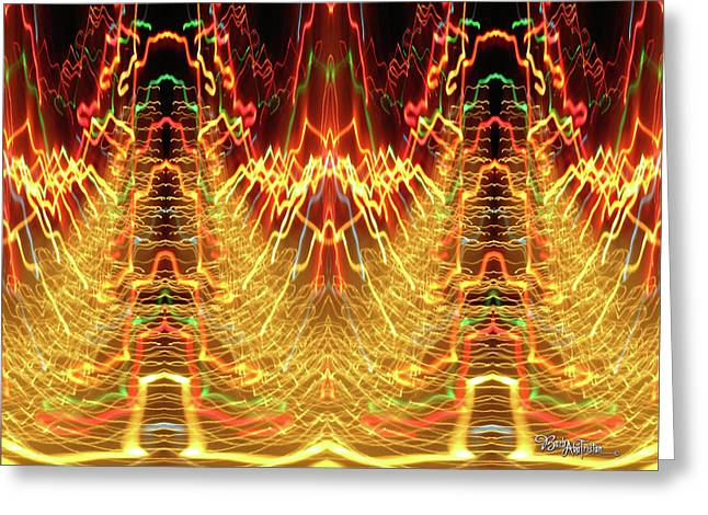 Abstract Christmas Lights #175 Greeting Card